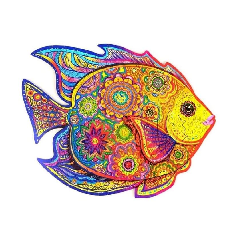 Puzzle aus holz Glänzender Fisch