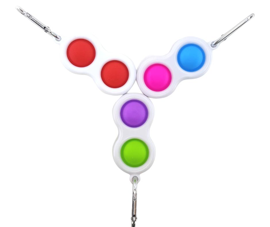 Simple Dimple Dual Push Button Fidget Toy