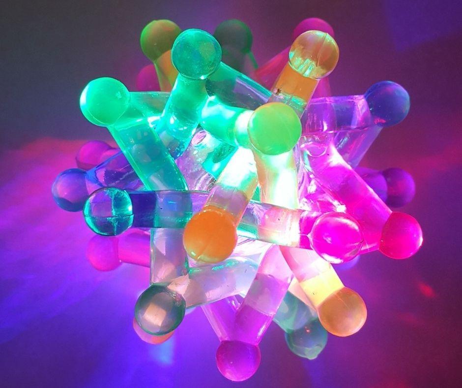 Flashing Light Up Atom Neutron Stress Ball Bounce