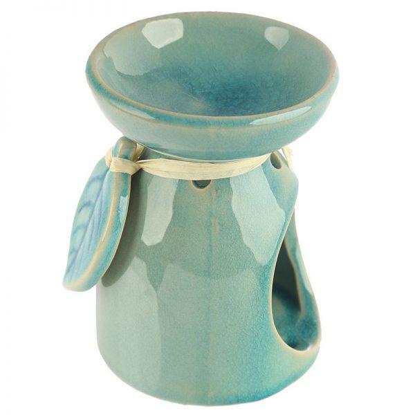 Wax burner, oil burner -Ceramic Leaf C (2 colours available)