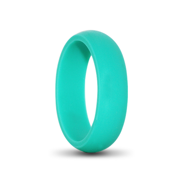 Turquoise Silicone Fitness Rings