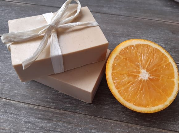 """Soap """"Orange"""" 100% Natural Essential Oil French yellow clay"""