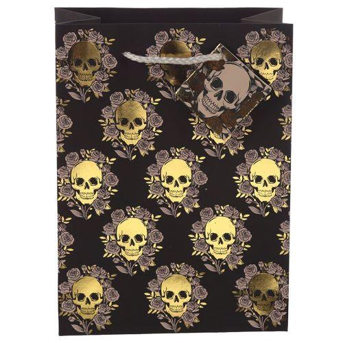 "Gift Bag ""Skulls & Roses"" Special Gift Halloween Shop (medium size)"