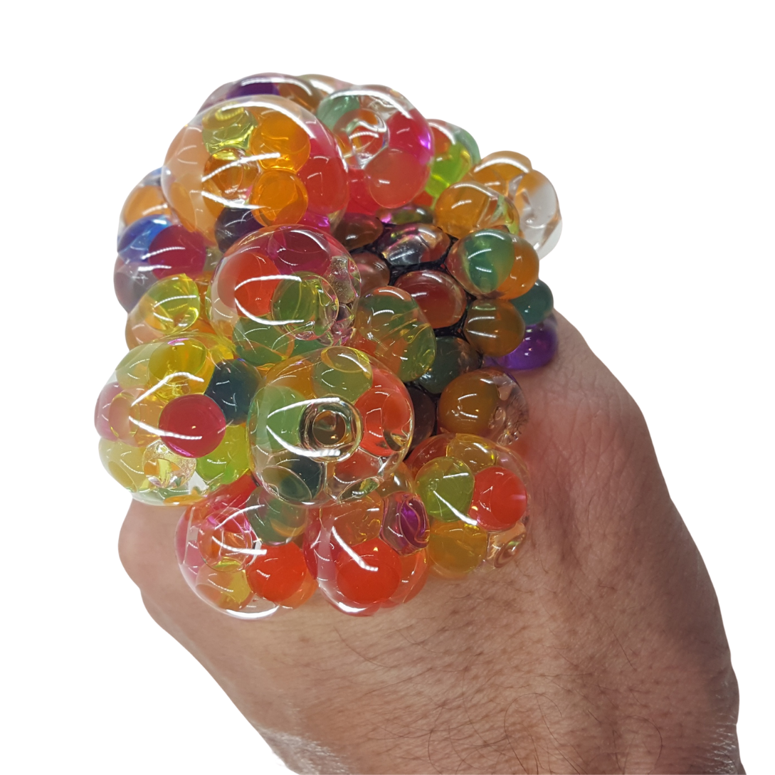 Rainbow Color Orbs Stress Squeeze Squish Ball