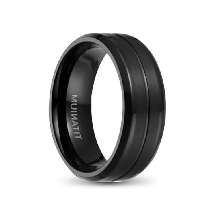Ceres Black Mens Titanium Ring