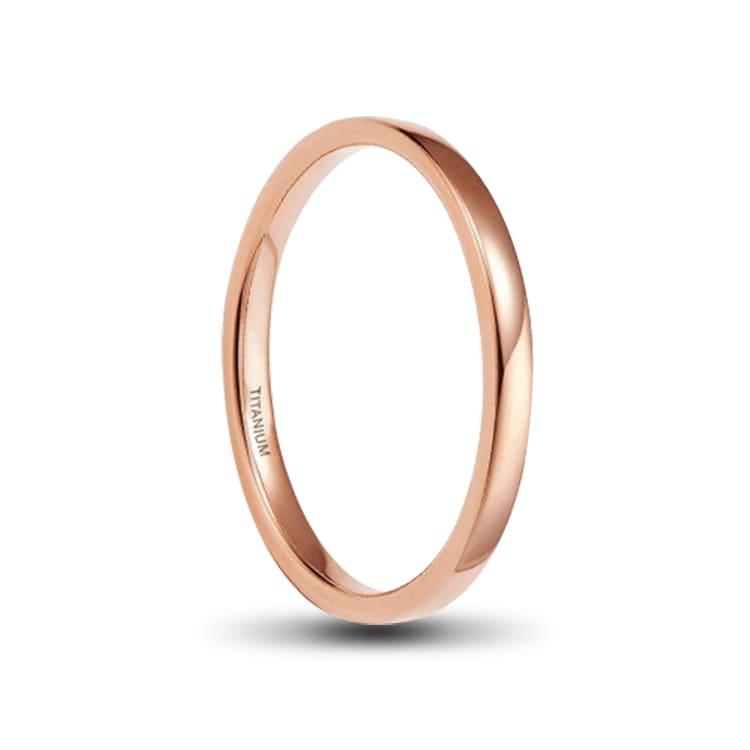 Rosegold Ladies Titanium Ring